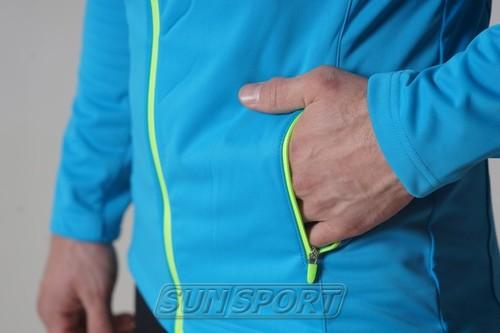 Разминочная куртка NordSki M Elite мужская синяя (фото, вид 4)