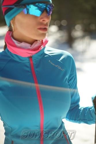 Разминочная куртка NordSki W Elite женская синяя (фото, вид 1)