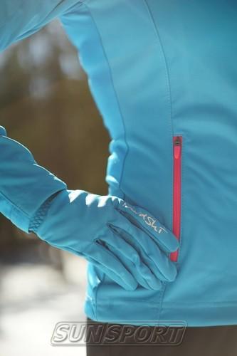 Разминочная куртка NordSki W Elite женская синяя (фото, вид 3)