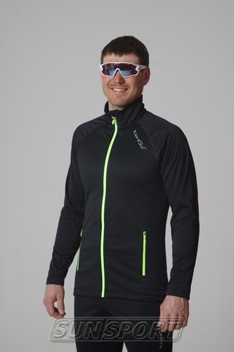 Разминочная куртка NordSki M Elite мужская черный (фото, вид 1)