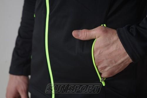 Разминочная куртка NordSki M Elite мужская черный (фото, вид 4)