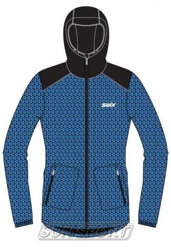 Утепленная куртка Swix Novosibirsk мужская синий (фото, вид 1)