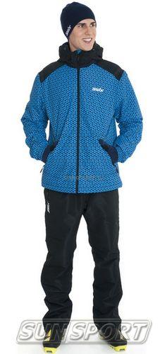 Утепленная куртка Swix Novosibirsk мужская синий (фото, вид 2)