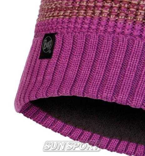Шапка Buff Knitted&Polar Hat Alyona Mauve (фото, вид 1)