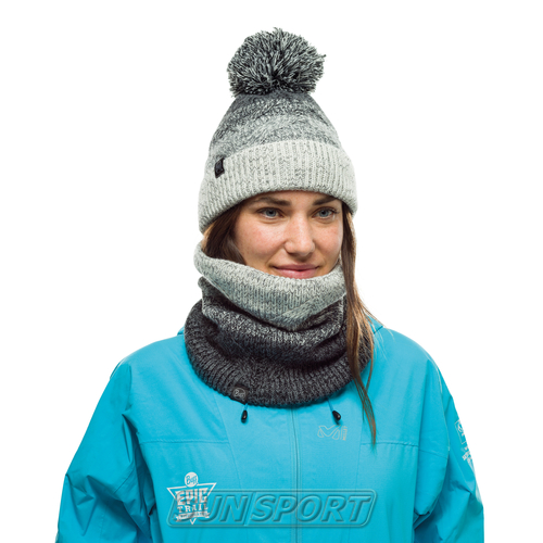 Шапка Buff Knitted&Polar Hat Masha Grey (фото, вид 1)