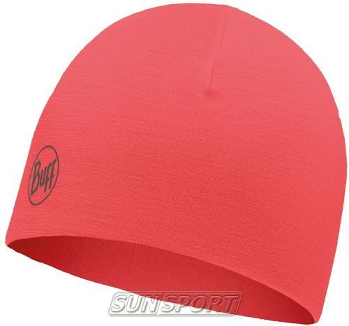 Шапка Buff Microfiber Reversible Hat R-Solid Coral Pink (фото, вид 1)