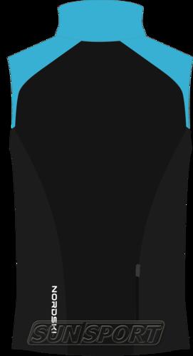 Жилет NordSki M Premium SoftShell мужской голуб/черный (фото, вид 1)