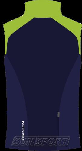 Жилет NordSki M Premium SoftShell мужской зелен/т.синий (фото, вид 1)