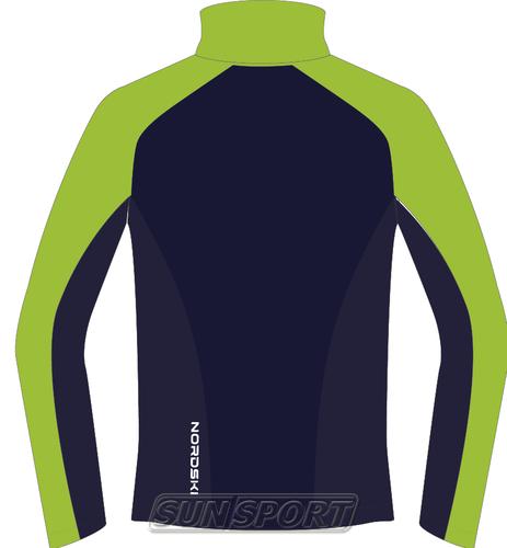 Разминочная куртка NordSki JR Premium SoftShell детская зел/т.синий (фото, вид 1)
