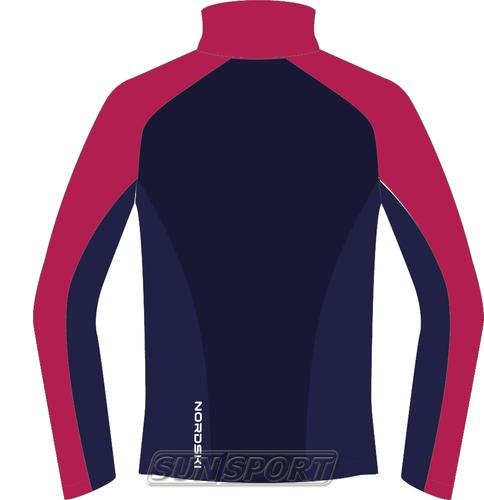 Разминочная куртка NordSki JR Premium SoftShell детская роз/т.синий (фото, вид 1)