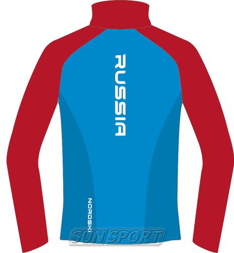 Разминочная куртка NordSki JR Premium SoftShell детская син/красный (фото, вид 1)