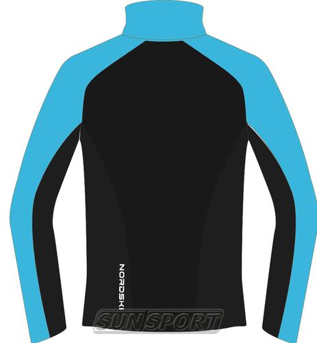 Разминочная куртка NordSki W Premium SoftShell женская голуб/черный (фото, вид 1)