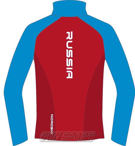 Разминочная куртка NordSki W Premium SoftShell женская красн/синий (фото, вид 1)