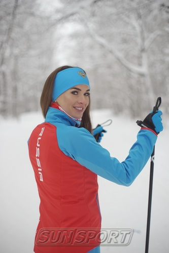 Разминочная куртка W Nordski Premium SoftShell красн/син (фото, вид 2)