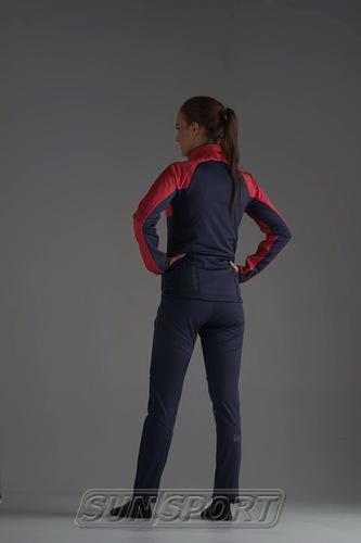 Разминочная куртка W Nordski Premium SoftShell розов/т.син (фото, вид 4)