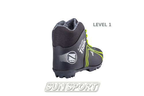 Ботинки лыжные Trek Level1 NNN черный (фото, вид 1)