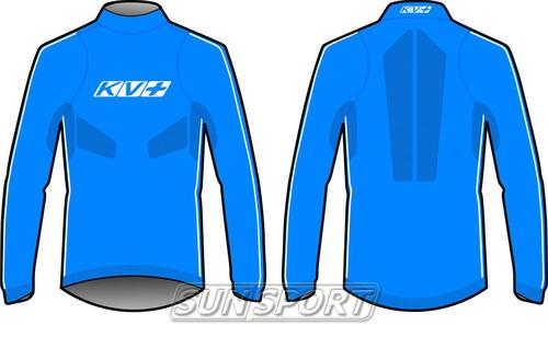 Термобелье Рубашка KV+ Seamless синий (фото, вид 3)
