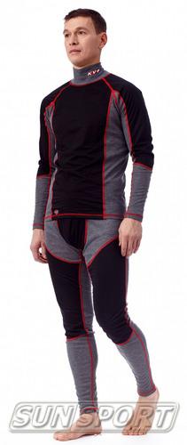 Термобелье Рубашка KV+ Ural WS мужская серый (фото, вид 1)