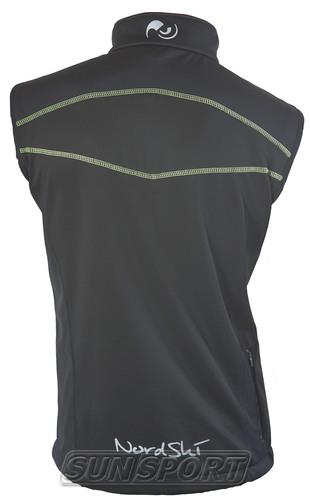 Жилет NordSki M SoftShell мужской черн/лайм (фото, вид 1)