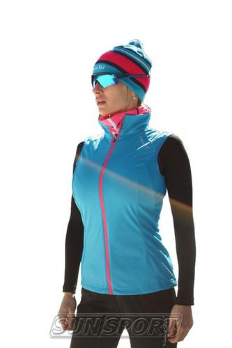 Жилет NordSki W Elite женский голубой (фото, вид 1)