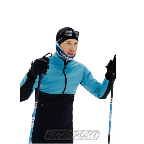 Жилет NordSki M Premium SoftShell мужской голуб/черный (фото, вид 2)