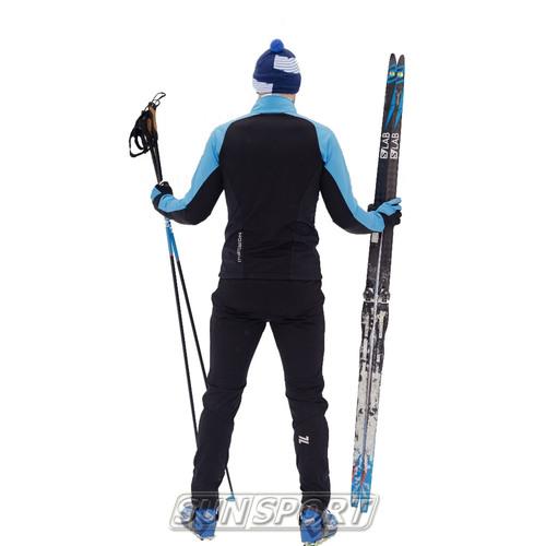 Жилет NordSki M Premium SoftShell мужской голуб/черный (фото, вид 3)