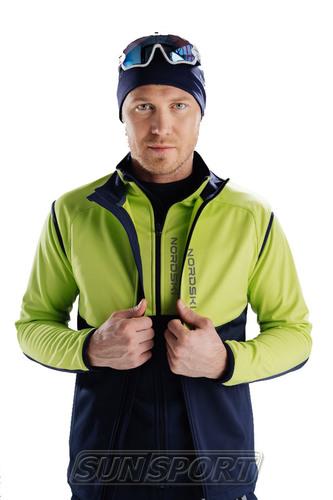 Жилет NordSki M Premium SoftShell мужской зелен/т.синий (фото, вид 2)