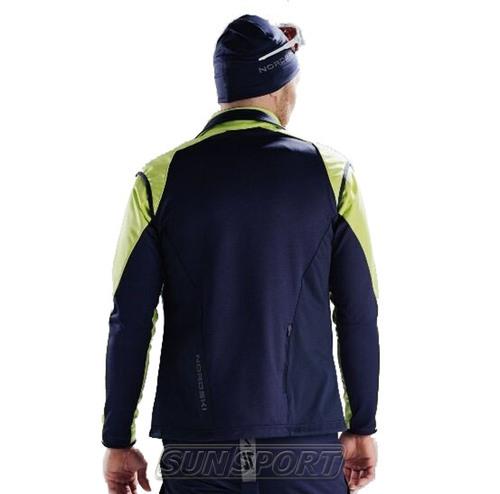 Жилет NordSki M Premium SoftShell мужской зелен/т.синий (фото, вид 4)