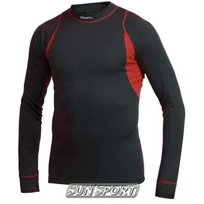 Термобелье Комплект Craft M Basic мужской чёрн/красный (фото, вид 1)