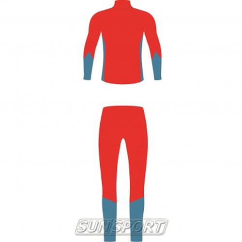 Комбинезон лыжный NordSki Active красн/синий (фото, вид 1)