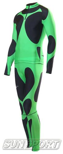 Комбинезон лыжный NordSki черн/зеленый (фото, вид 2)