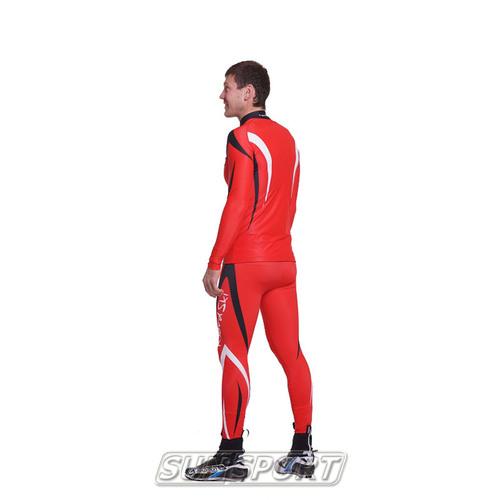Комбинезон лыжный NordSki Premium красн/черный (фото, вид 4)