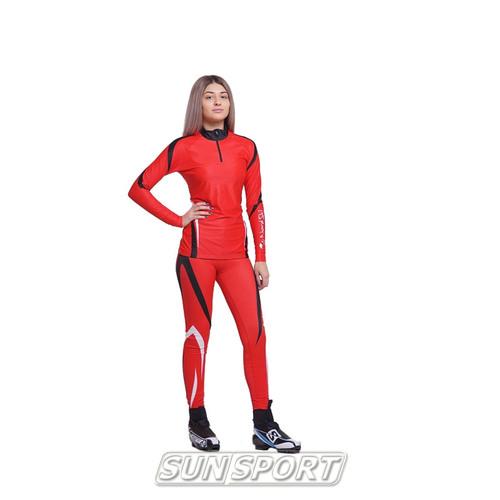 Комбинезон лыжный NordSki Premium красн/черный (фото, вид 5)