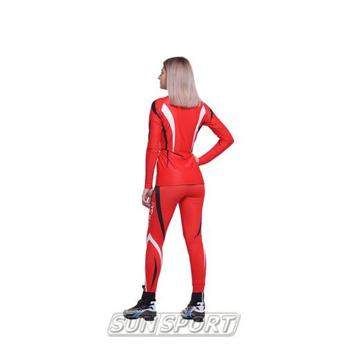 Комбинезон лыжный NordSki Premium красн/черный (фото, вид 6)
