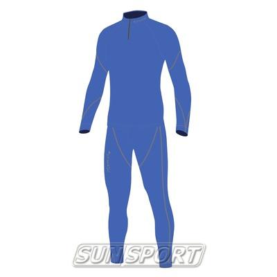 Комбинезон лыжный NordSki JR Active детский синий (фото, вид 1)