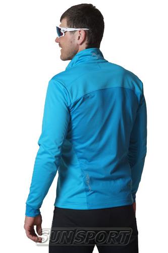 Разминочный костюм NordSki M Motion мужской голуб/черный (фото, вид 2)