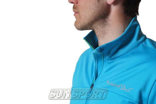 Разминочный костюм NordSki M Motion мужской голуб/черный (фото, вид 3)