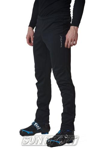 Разминочный костюм NordSki M Motion мужской голуб/черный (фото, вид 5)
