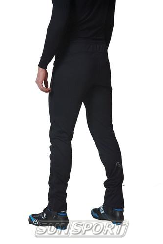 Разминочный костюм NordSki M Motion мужской голуб/черный (фото, вид 6)