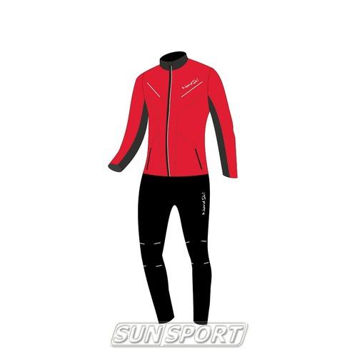 Разминочный костюм NordSki M Premium SoftShell мужской красный (фото, вид 4)