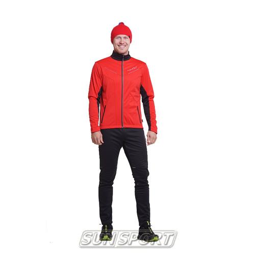 Разминочный костюм NordSki M Premium SoftShell мужской красный (фото, вид 3)