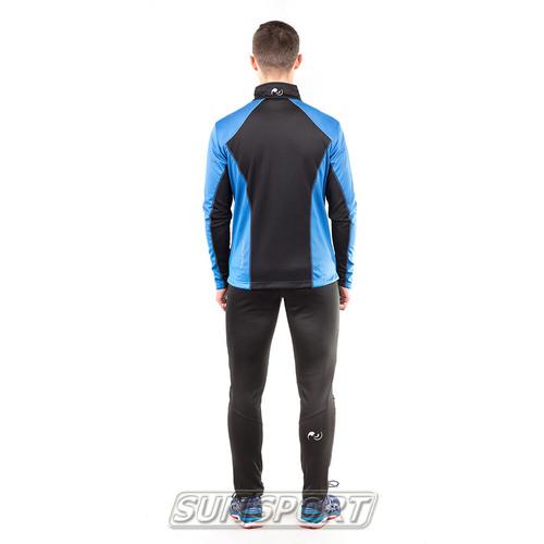Разминочный костюм NordSki M Premium SoftShell мужской синий (фото, вид 2)