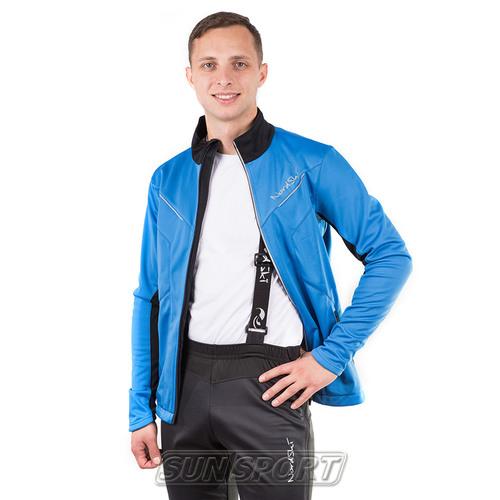 Разминочный костюм NordSki M Premium SoftShell мужской синий (фото, вид 1)