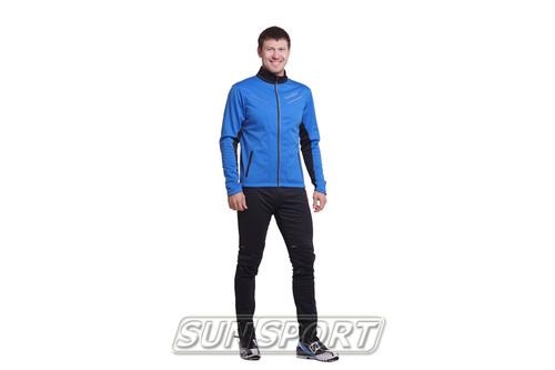 Разминочный костюм NordSki M Premium SoftShell мужской синий (фото, вид 4)