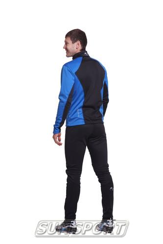 Разминочный костюм NordSki M Premium SoftShell мужской синий (фото, вид 5)