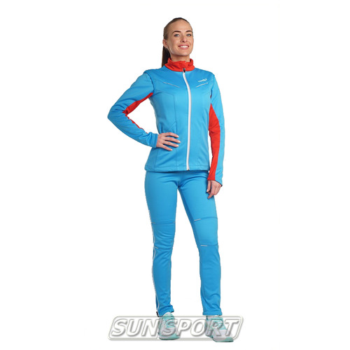 Разминочный костюм NordSki W SoftShell женский National Blue (фото, вид 1)