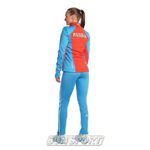 Разминочный костюм NordSki W SoftShell женский National Blue (фото, вид 2)