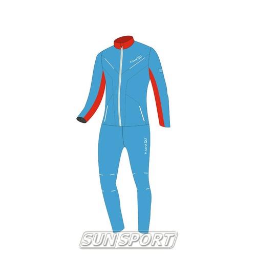 Разминочный костюм NordSki W SoftShell женский National Blue (фото, вид 4)
