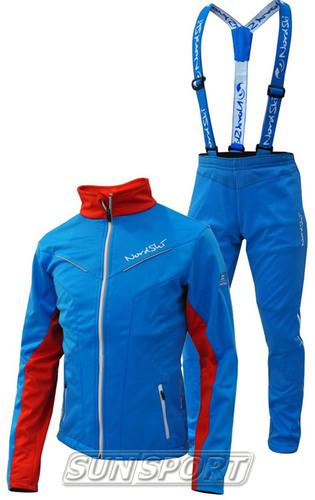 Разминочный костюм NordSki W SoftShell женский National Blue (фото, вид 3)