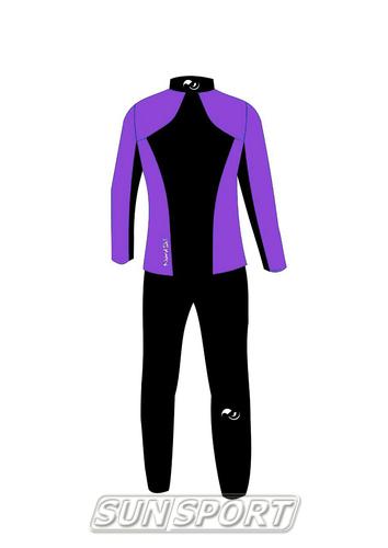 Разминочный костюм NordSki JR Premium SoftShell детский фиол/черный (фото, вид 5)
